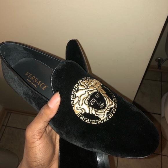 761f6832c9 Versace Shoes | Medusa Head Velvet Loafers | Poshmark